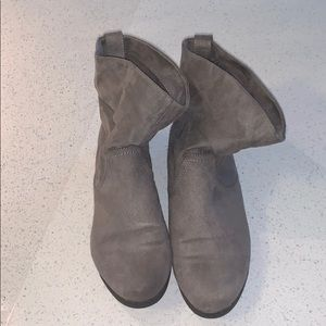 SO grey ankle booties